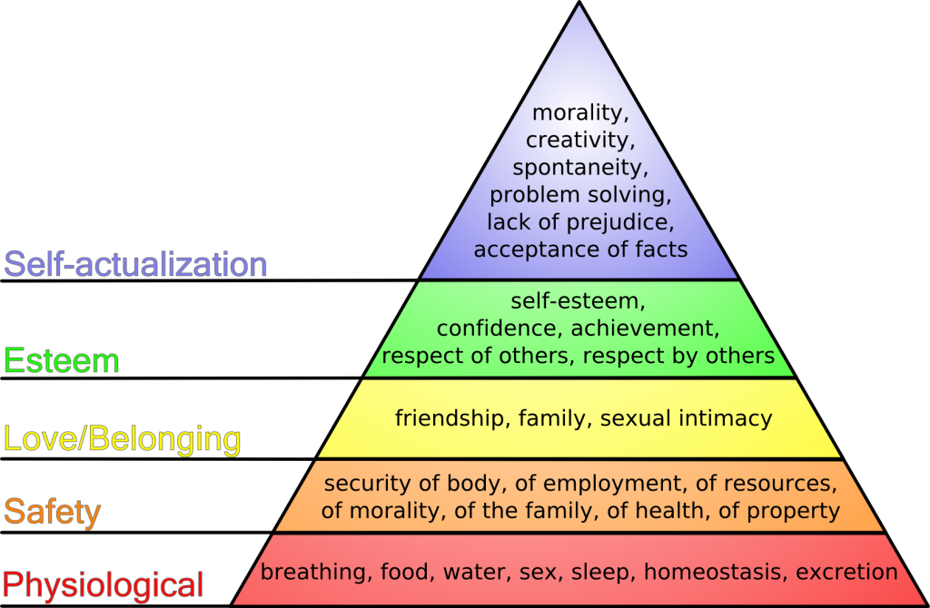 maslow's hiararchy of needs